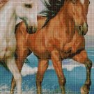 Horses 4 DMC cross stitch pattern in pdf DMC