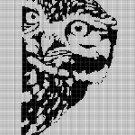 Owl 4 silhouette cross stitch pattern in pdf