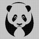Panda 2 silhouette cross stitch pattern in pdf