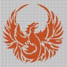 Phoenix silhouette cross stitch pattern in pdf