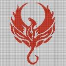 Phoenix 2 silhouette cross stitch pattern in pdf