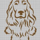 Spaniel silhouette cross stitch pattern in pdf