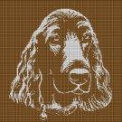 Spaniel Head silhouette cross stitch pattern in pdf