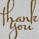 Thank you silhouette cross stitch pattern in pdf