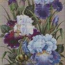 Irises DMC cross stitch pattern in pdf DMC