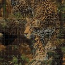 Leopard DMC cross stitch pattern in pdf DMC