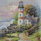Lighthouse DMC cross stitch pattern in pdf DMC
