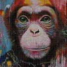 Monkey head DMC cross stitch pattern in pdf DMC