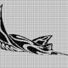 Tribal manta silhouette cross stitch pattern in pdf