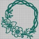 Wreath silhouette cross stitch pattern in pdf