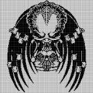 Yautja Predator silhouette cross stitch pattern in pdf
