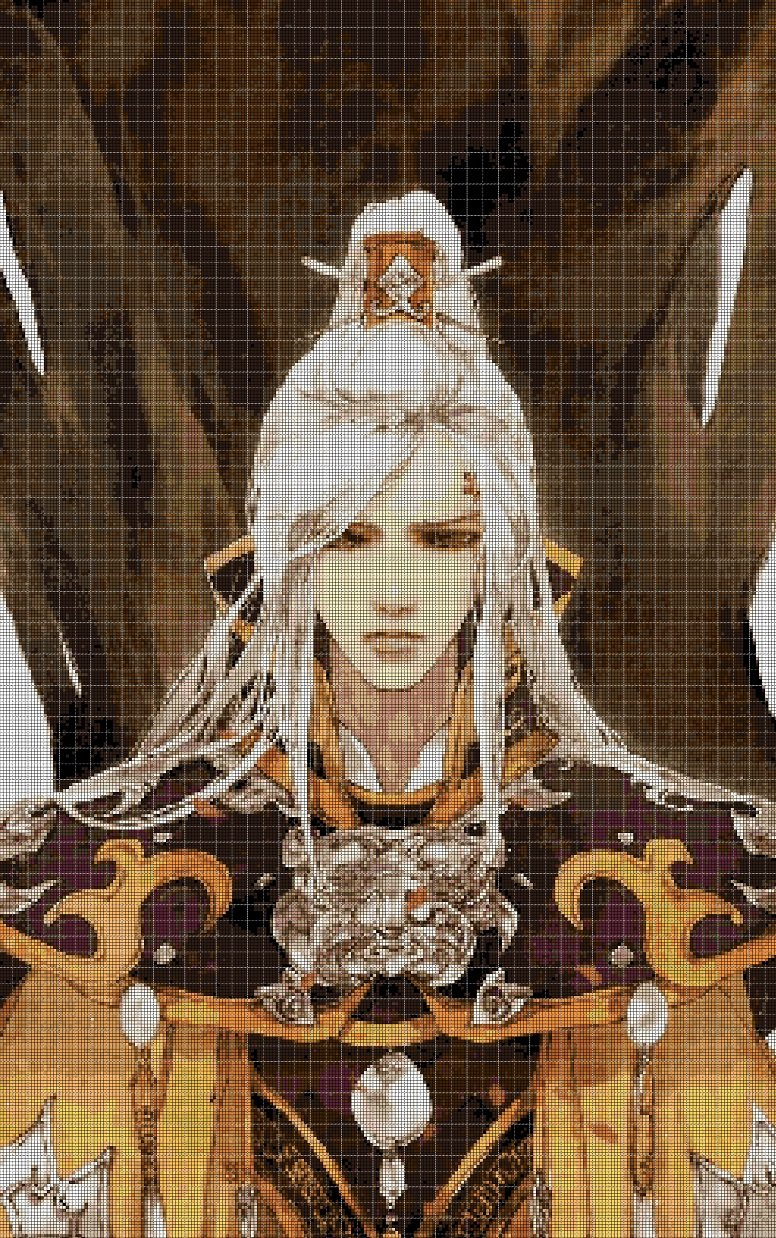 Chinese Prince DMC cross stitch pattern in pdf DMC