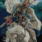 Chinese warrior DMC cross stitch pattern in pdf DMC