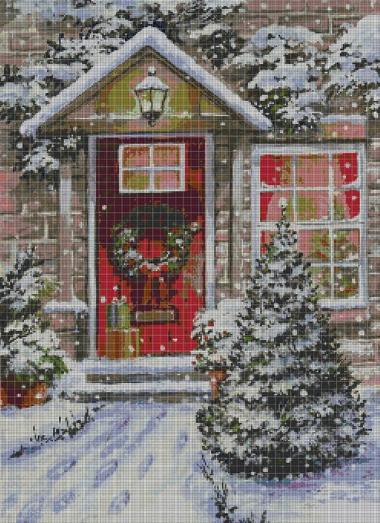 Christmas DMC cross stitch pattern in pdf DMC