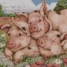 Pigs DMC cross stitch pattern in pdf DMC