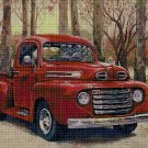 Red Pickup DMC cross stitch pattern in pdf DMC