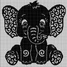 Art elephant 2 silhouette cross stitch pattern in pdf