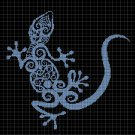 Art gecco silhouette cross stitch pattern in pdf