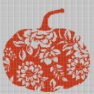 Art pumpkin silhouette cross stitch pattern in pdf