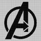 Avangers symbol silhouette cross stitch pattern in pdf