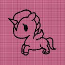 Baby unicorn silhouette cross stitch pattern in pdf