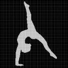 Ballet silhouette cross stitch pattern in pdf