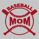 Baseball mom cross stitch pattern in pdf