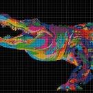Alligator DMC cross stitch pattern in pdf DMC