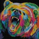 Colorful Bear DMC cross stitch pattern in pdf DMC