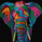 Colorful elephant DMC cross stitch pattern in pdf DMC