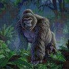 Gorillas2 DMC cross stitch pattern in pdf DMC