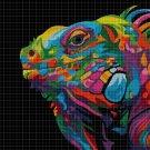 Iguana DMC cross stitch pattern in pdf DMC