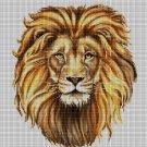 Lion head DMC cross stitch pattern in pdf DMC