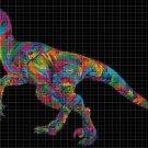 Raptor DMC cross stitch pattern in pdf DMC