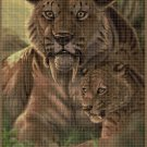 Saber-toothed tiger 2 DMC cross stitch pattern in pdf DMC