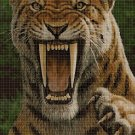 Saber-toothed tiger 3 DMC cross stitch pattern in pdf DMC