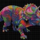 Triceratops DMC cross stitch pattern in pdf DMC
