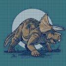 Triceratops2 DMC cross stitch pattern in pdf DMC