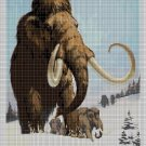 Wooly-mammoth2 DMC cross stitch pattern in pdf DMC