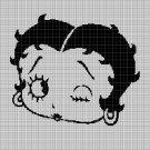 Betty Boop face silhouette cross stitch pattern in pdf