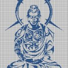 Buddha silhouette cross stitch pattern in pdf
