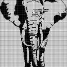 Elephant 3 silhouette cross stitch pattern in pdf