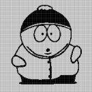 Eric Cartman silhouette cross stitch pattern in pdf