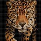 Jaguar predator DMC cross stitch pattern in pdf DMC