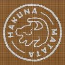 Hakuna Matata silhouette cross stitch pattern in pdf