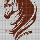 Horse head 2 silhouette cross stitch pattern in pdf