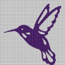 Hummingbird silhouette cross stitch pattern in pdf