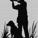 Hunting silhouette cross stitch pattern in pdf