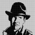 Indiana Jones silhouette cross stitch pattern in pdf