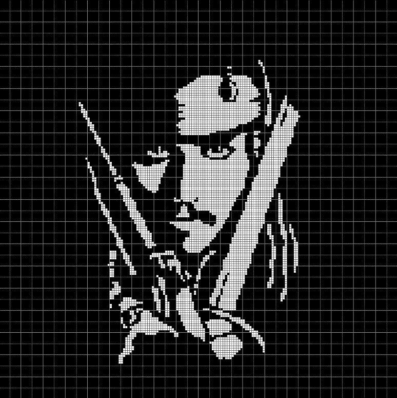 Jack Sparrow 2 silhouette cross stitch pattern in pdf